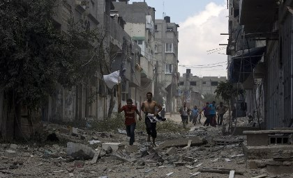 Жертвами авиаударов в секторе Газа стали 87 палестинцев
