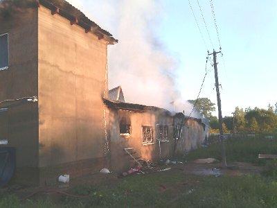 В Ярцевском районе сгорел молокозавод