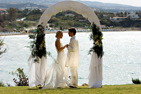 Церемония венчания на Кипре
