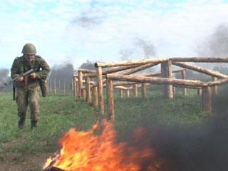 Новички Смоленской военной академии прошли курс молодого бойца