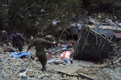В Боливии разбился автобус с иностранными туристами