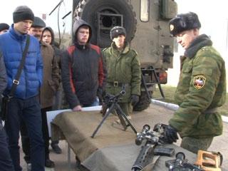 Сегодня в стенах военной академии прошла акция «День призывника»