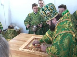 В Смоленской области придел Свято-Троицкого собора был освящен в честь княжеской четы