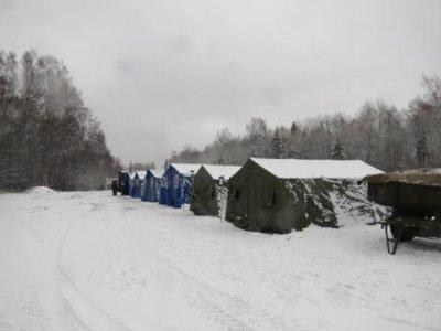 На границе с Беларусью обустроили пункты обогрева для водителей
