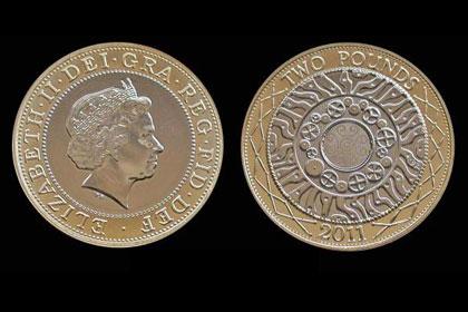 Китайские фальшивомонетчики освоили производство монеты в два фунта стерлингов