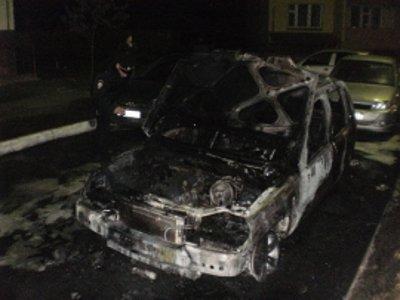 Неизвестные злоумышленники ночью подожгли в Вязьме Audi