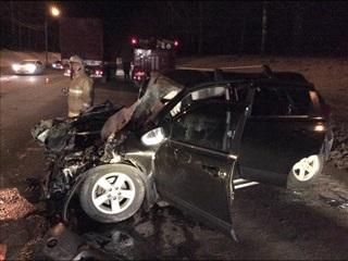 В Смоленске скончался водитель легковушки, врезавшейся в рейсовый автобус