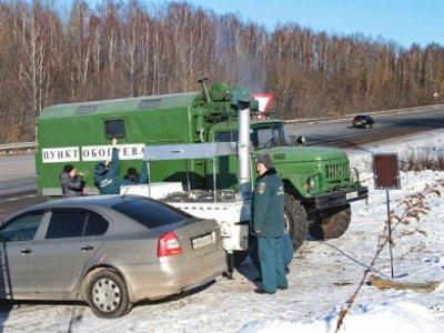 На федеральных трассах заработали шесть пунктов обогрева водителей