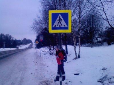 После трассы М1 «светящиеся человечки» появились на рославльских дорогах