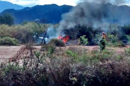 При столкновении двух вертолетов в Аргентине погибли 10 человек