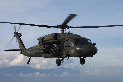 При крушении вертолета в Колумбии погибли четверо военных