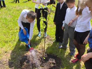 Смоленские полицейские помогли восстановить фруктовый сад в школе-интернате