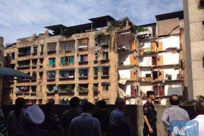 В Китае обрушилась часть девятиэтажного дома