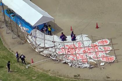 В толпу японцев упал 700-килограммовый воздушный змей