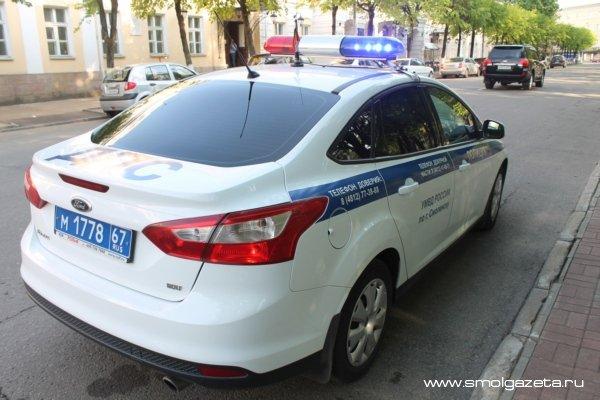 В Смоленске пьяный водитель устроил гонки с полицией
