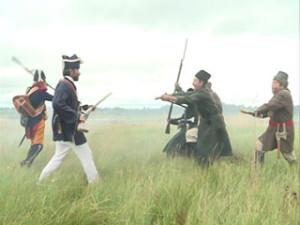 На Смоленщине у деревни Милюково реконструкторы воссоздали арьергардный бой с армией Наполеона