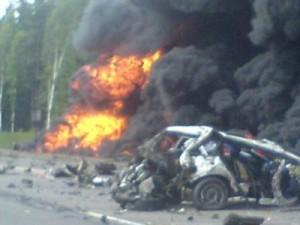 Четыре человека пострадали, один погиб в аварии под Смоленском