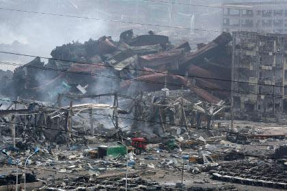 На месте взрывов в Тяньцзине обнаружен один выживший