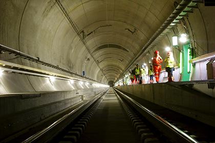 В Европе завершили строительство самого длинного в мире тоннеля