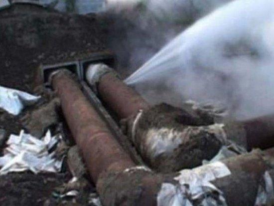 Заднепровцы из-за аварии на трубопроводе лишились горячей воды