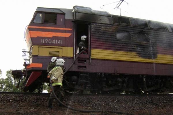 В Смоленской области горел тепловоз