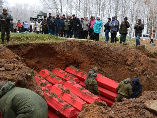 В поминальную субботу в Сычевке похоронили свыше 400 солдат