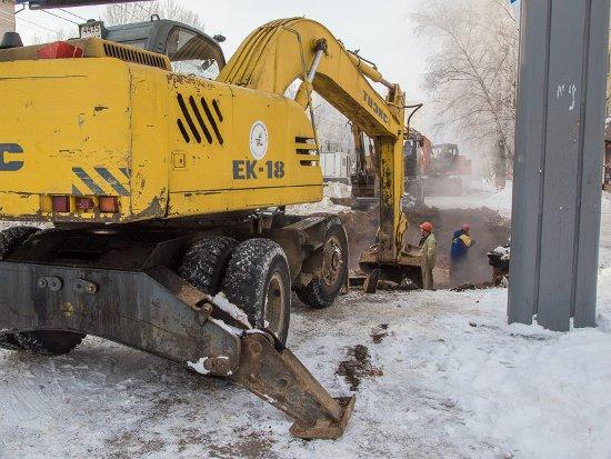 Ремонт теплосети на Краснинском шоссе затянулся из-за допущенной ошибки