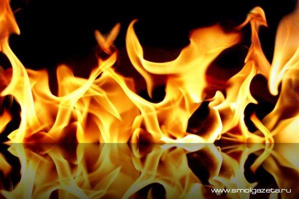 Под Смоленском в пожаре погиб человек