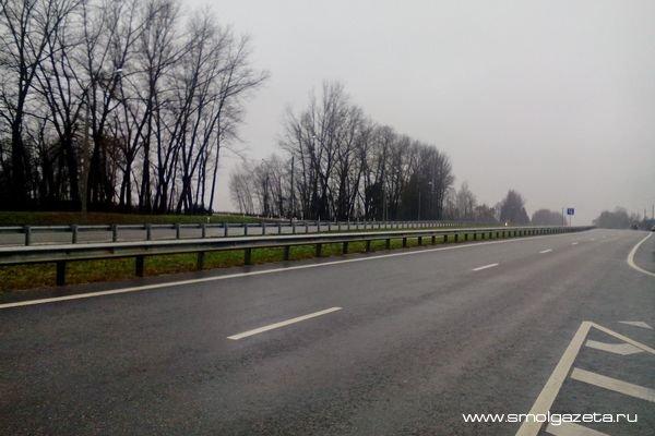 На трассе М1 в Смоленской области установят тросовые ограждения