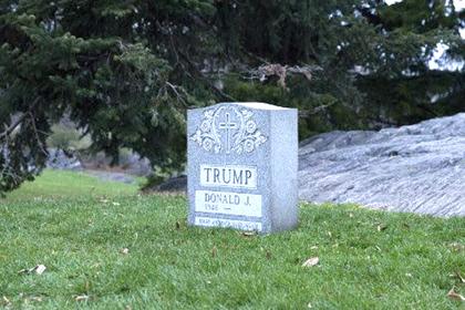 В Центральном парке Нью-Йорка появилась надгробная плита Дональда Трампа