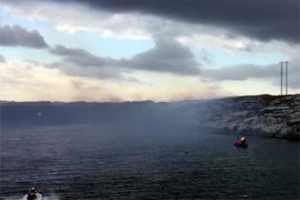 Вертолет разбился на западном побережье Норвегии