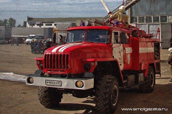В Смоленской области произошло возгорание иномарки
