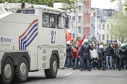 В Брюсселе тюремные надзиратели подрались с полицейскими