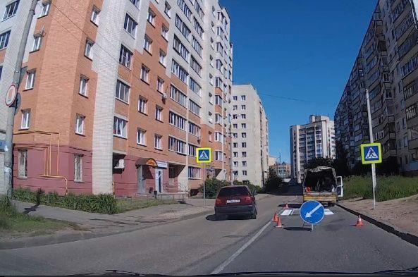 В Смоленске на Маршала Соколовского появилась новая «зебра»