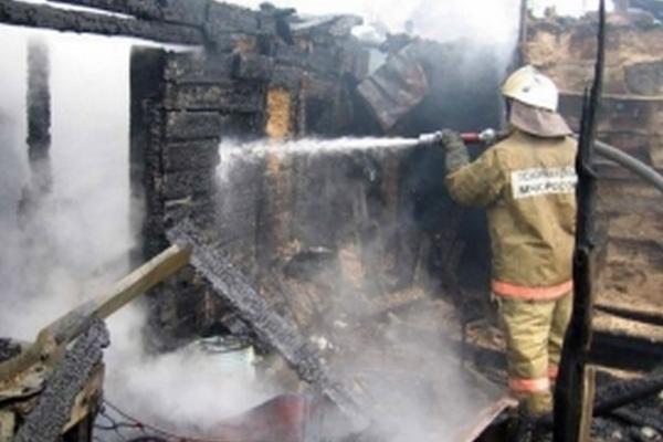 В Смоленской области от разряда молнии сгорел дом