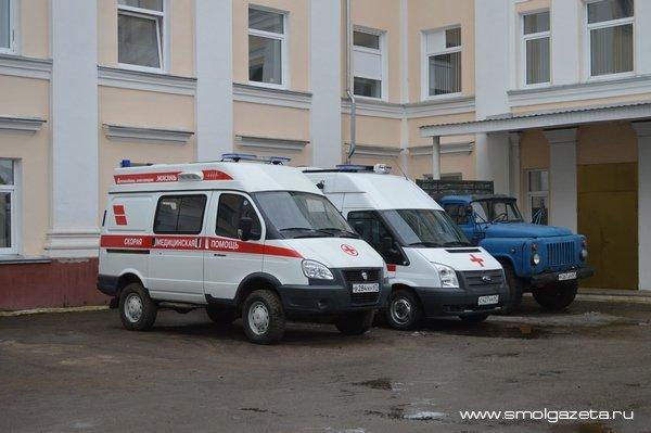 В Смоленске в ДТП с иномаркой пострадал мотоциклист