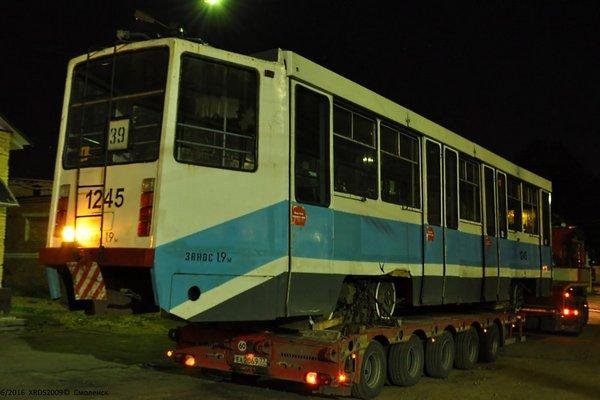 В Смоленск приехал первый трамвай из Москвы