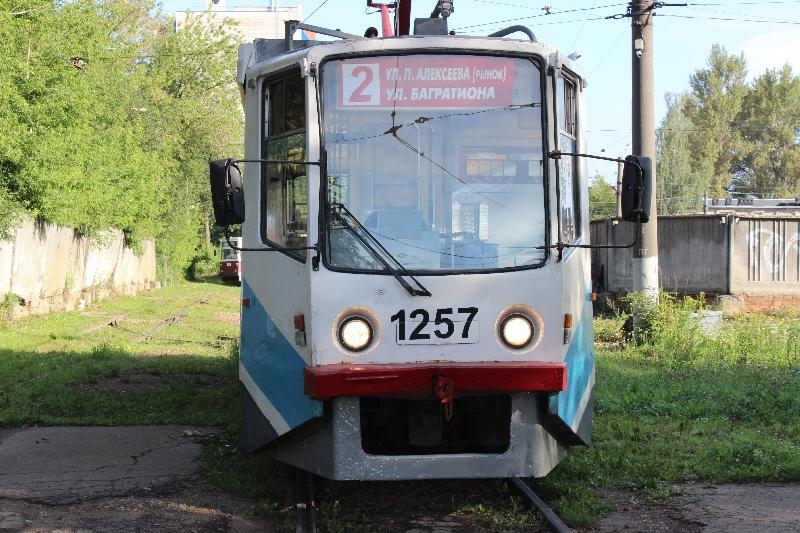 В Смоленске в рейс вышел первый трамвай из Москвы