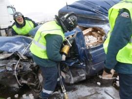 В Вяземском районе в аварии на трассе погибли мужчина и подросток