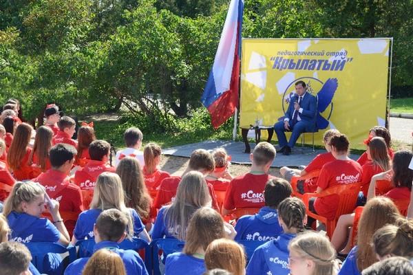 Алексей Островский посетил молодежные сборы «СОКОЛ-2016»