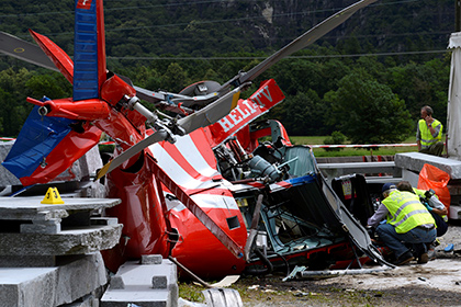 В Швейцарии разбился военный вертолет