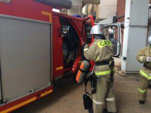 Спасатели потренировались в тушении Смоленской АЭС