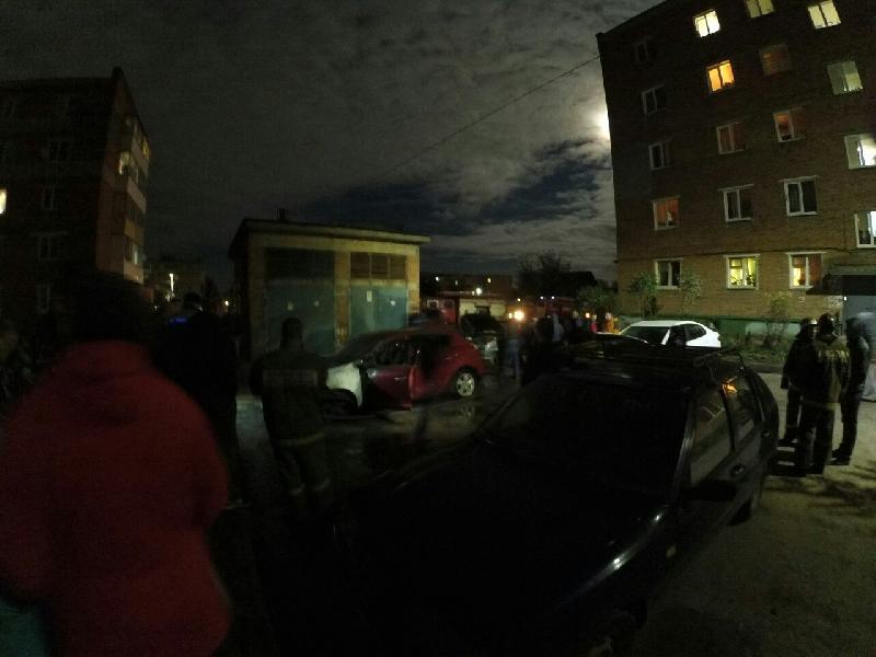 15 октября в Рославле в одно время сгорели четыре машины