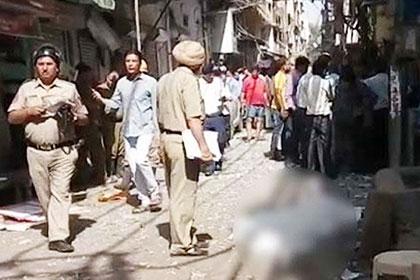 На рынке в Дели прогремел взрыв