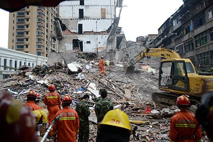 В Китае обрушились четыре жилых дома