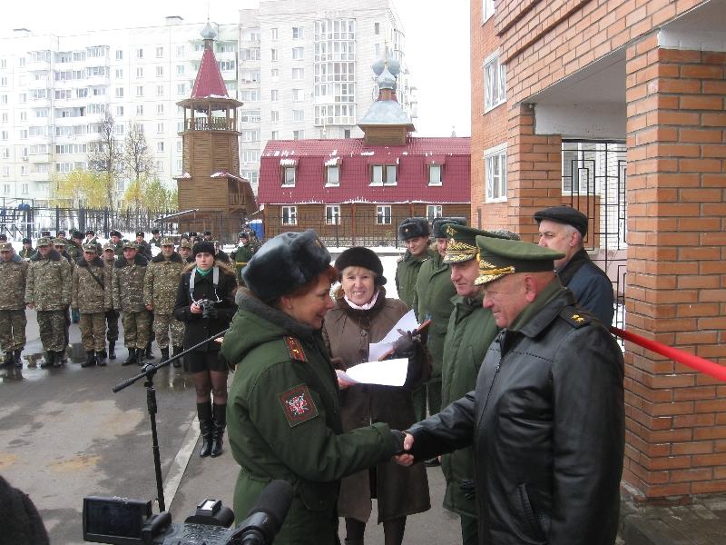 В Смоленске военные справили новоселье