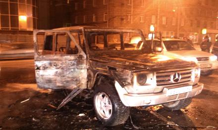 В Десногорске сгорел «Mercedes-Benz»