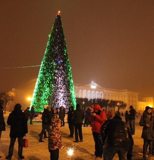 Главную елку Смоленска установят 12 декабря