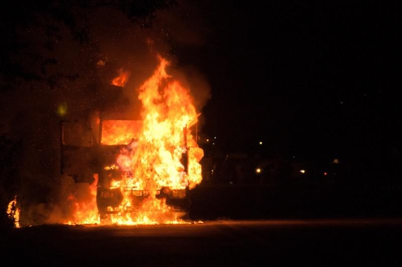 В Смоленской области огнем поврежден большегруз
