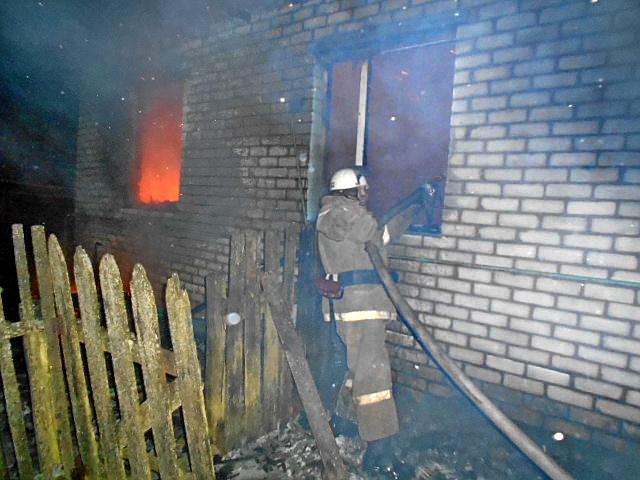Смолянин погиб при пожаре в собственном доме